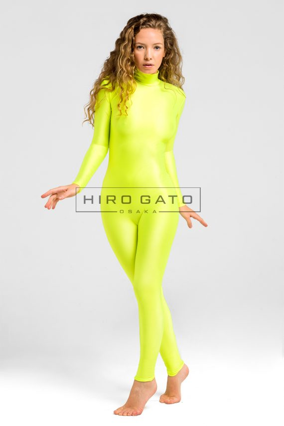 Lemon Yellow Shiny Lycra Zentai Spandex Catsuit