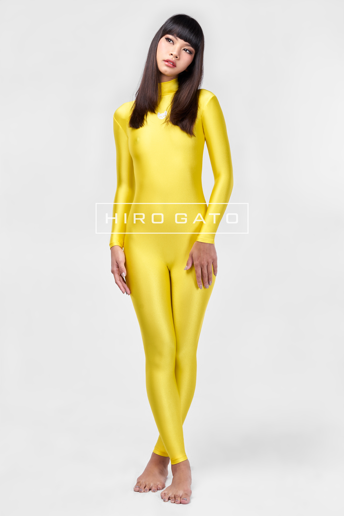 Spandex Catsuit Yellow