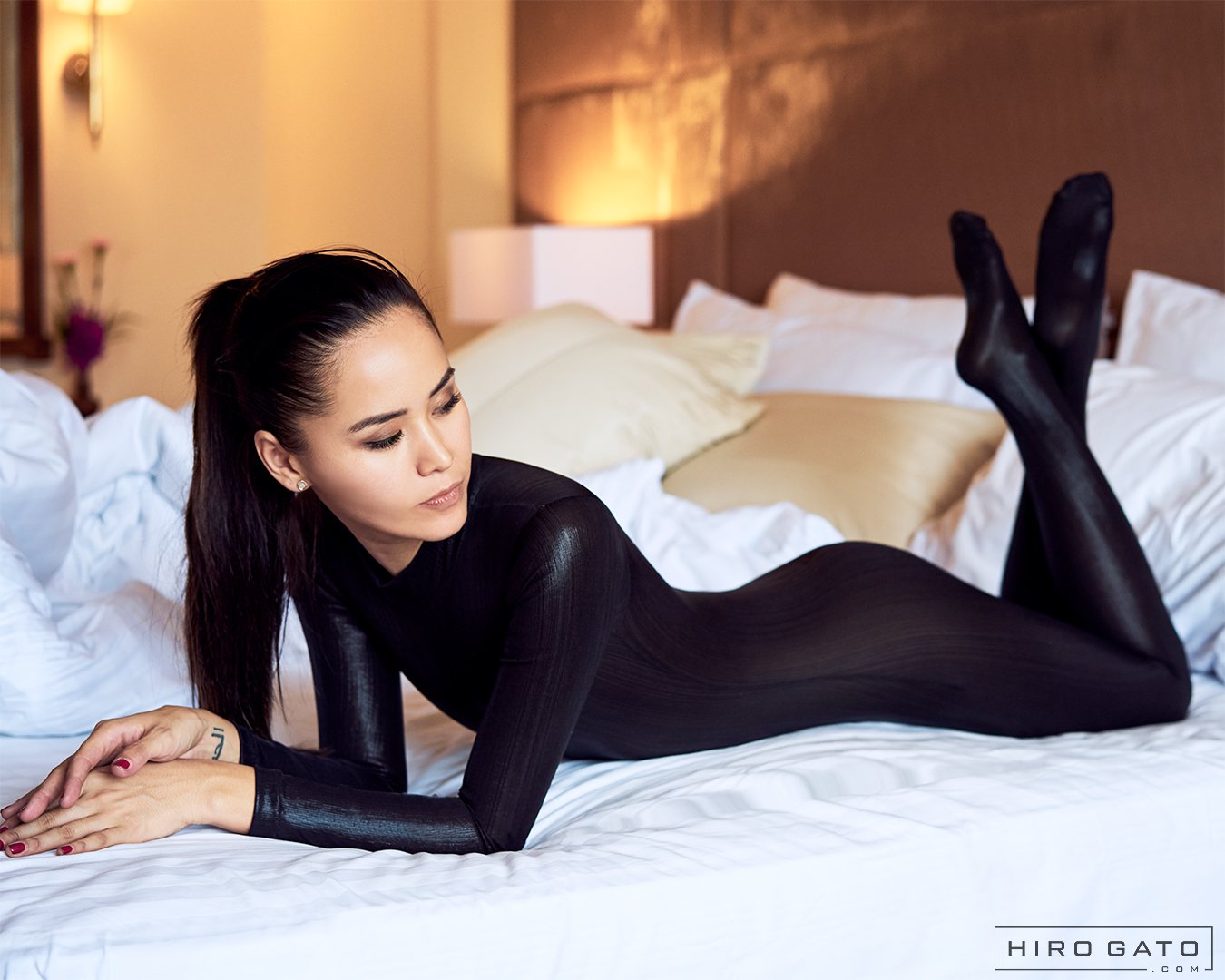 Metallic Zentai Catsuit Black