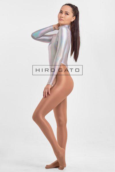 Hologram Leotard Silver