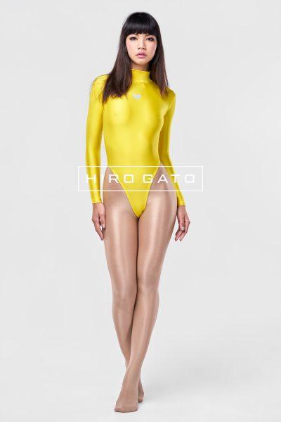 Spandex Leotard Yellow