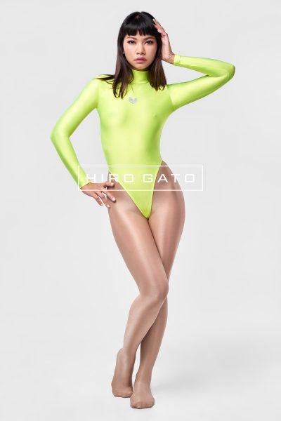 Spandex Catsuit Neon Yellow
