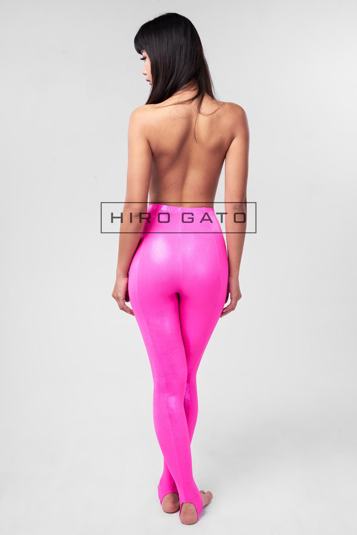 Metallic Lycra Leggings Pink