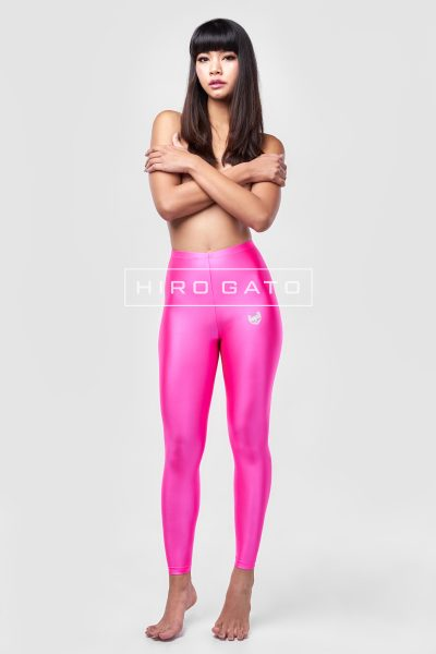 Shiny Lycra Leggings Pink