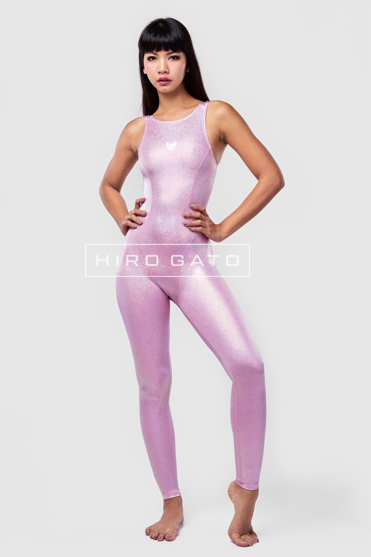 Lycra Unitard Bonbon Pink