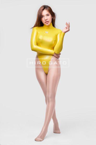 Mystique Spandex Leotard Yellow