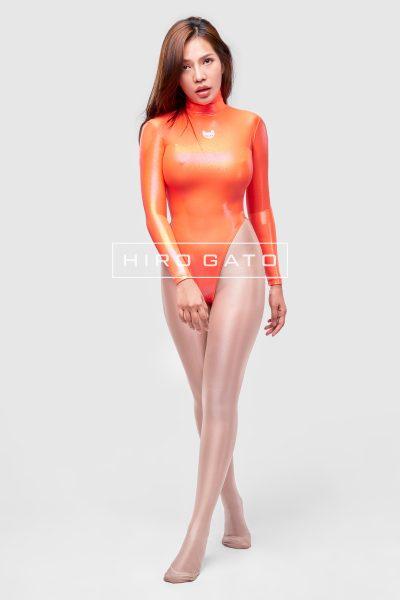 Mystique Spandex Leotard Orange