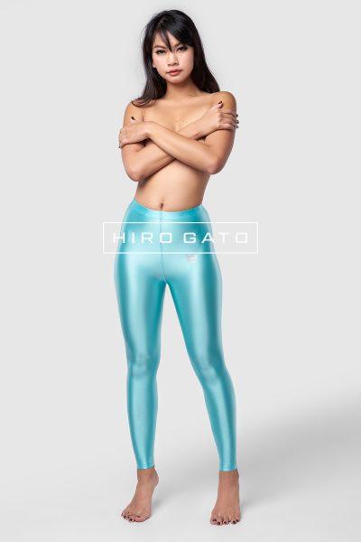 Satin Lycra Leggings Turquoise